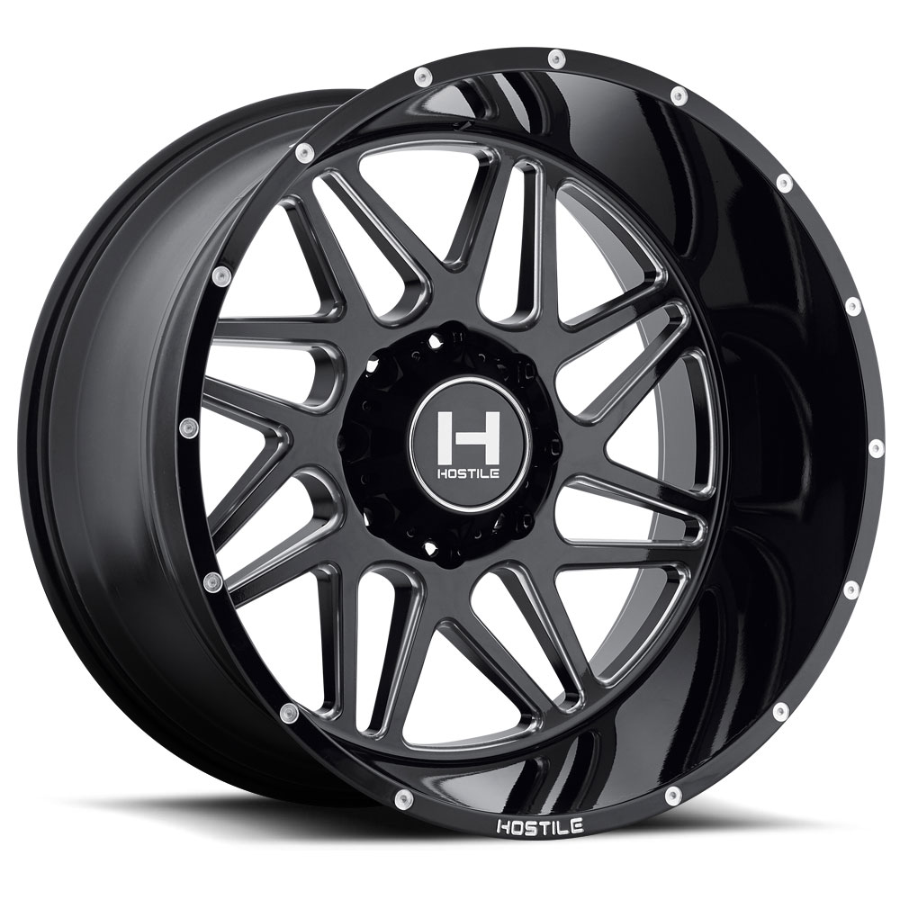 F150 Chrome Rims >> H108 SPROCKET (8L) Blade Cut - Hostile Wheels